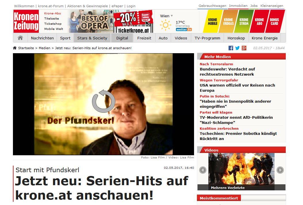 Krone launcht neue Film Mediathek