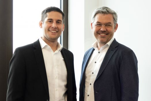 (v.l) Nikolaus Beier Director Advertising Products & Supplier Relations bei Sportradar & Siegfried Stepke CEO & Founder e-dialog WEB