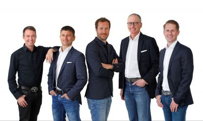 Das Team von Serviceplan International (v.l.): Jason Romeyko (Worldwide Executive Creative Director Serviceplan International), Stefan Krötz (Chief Digital Media Officer International), Markus Noder (Geschäftsführer Serviceplan International), Christoph Kunzendorf (Chief Financial Officer International) und Marcus Schnarr (Chief Marketing Officer International).