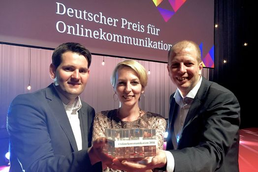 Michael Schacherhofer, ÖBB-Leiter Corporate Digital Media, Sonja Horner, ÖBB-Leiterin der externen Kommunikation und Pick & Barth-Chef Josef Barth.