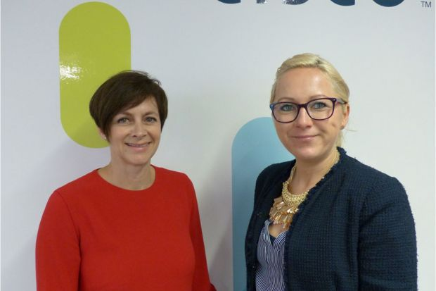 Emma Roffey, Senior Director Marketing EMEAR, und Margit Anglmaier, Marketing Managerin von Cisco Austria: Innovation aus Europa.