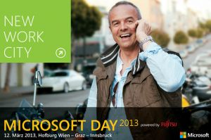 "Das Motto des Microsoft Day 2013: ""New Work City"" © diamond:dogs
