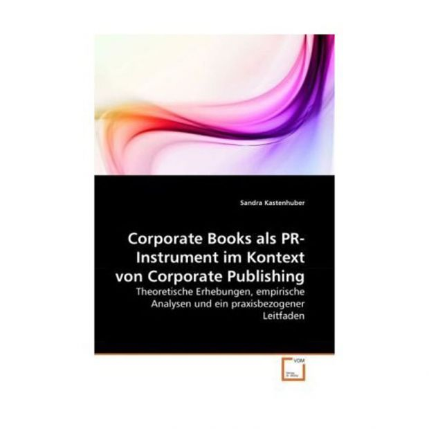 "Sandra Kastenhuber, ""Corporate Book als PR-Instrument im Kontext von Corporate Publishing. Theoretische Erhebungen, empirische Analysen und ein praxisbezogener Leitfaden"", 260 Seiten, VDM Verlag Dr. Müller, 2010, ISBN-13: 978-3639281071, 79,00 Euro."