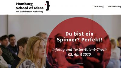 An der Hamburg School of Ideas will man früh Kreativ-Talente entdecken.