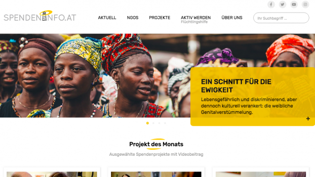 Relaunch des Onlineportals Spendeninfo.at
